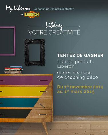 Participez au jeu concours Libéron pour tenter de gagner 1000 euros de produits Libéron envoyés sur un an pour repeindre meubles et boiseries
