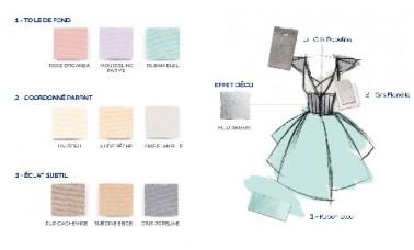 Collection couture planche couleur romantic peinture dulux - Planche de couleur ...