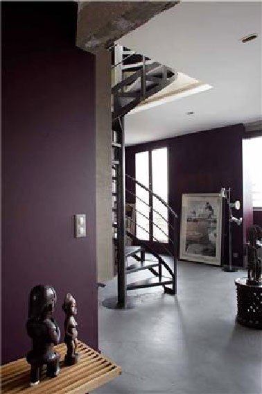 Comment associer la couleur aubergine en d coration d co for Carrelage gris mur prune