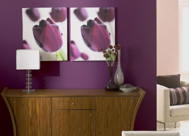 Comment associer la couleur aubergine en d coration d co - Salle de bain couleur aubergine ...