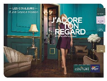 Les nouvelles couleurs tendance de la collection Glamour peinture de la ligne Couture Dulux Valentine pour une déco chic et élégante en 2015 en vente chez Castorama. 9 teintes et un effet déco doré parmi les 29 couleurs de la gamme Couture