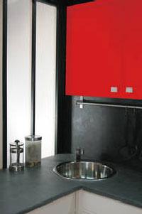 peinture effet b ton gris anthracite sur carrelage. Black Bedroom Furniture Sets. Home Design Ideas