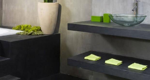 Peinture effet b ton pour carrelage cr dence plan de travail for Peinture effet beton cire pour plan de travail