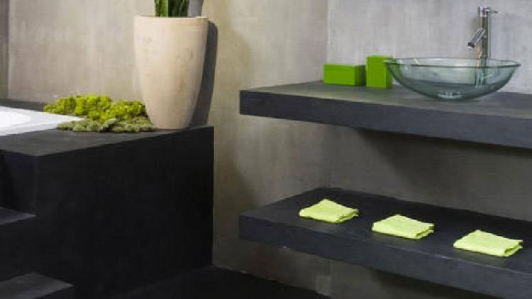 peinture effet b ton pour carrelage cr dence plan de travail. Black Bedroom Furniture Sets. Home Design Ideas