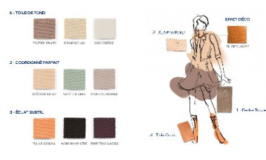Planche couleurs pour ambiance sauvage de la gamme couture for Salon de la couture