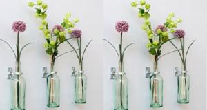 diy déco récup pour transformer des bouteilles de vin en vase à fixer en déco murale ou pour cultiver de petites plantes d'intérieur