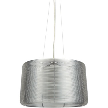 Cette lampe design à suspendre dans la chambre. En métal et verre