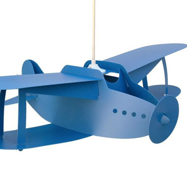 lampes design suspension chambre enfants avion bleu. Black Bedroom Furniture Sets. Home Design Ideas