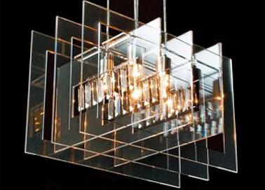 Suspension chrome salon et s jour luminaire lustre for Suspension pour sejour