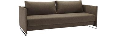 Idéal pour relooker votre salon, ce canapé lit trois places en tissu est soutenu par une structure en acier. Son design moderne ainsi que sa couleur lui permettent de s'adapter à tout type d'intérieur.