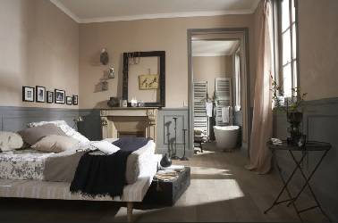 suite parentale au charme baroque style romantique. Black Bedroom Furniture Sets. Home Design Ideas