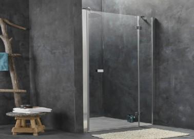 Une douche install e sous pente dans la tendance de la - Petite salle de bain sous pente ...