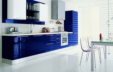 la cuisine bleu on l 39 adore deco cool. Black Bedroom Furniture Sets. Home Design Ideas