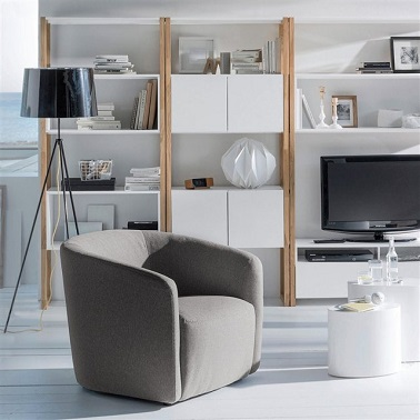 Etag re biblioth que de rangement salon ou chambre la redoute for Le redoute meuble