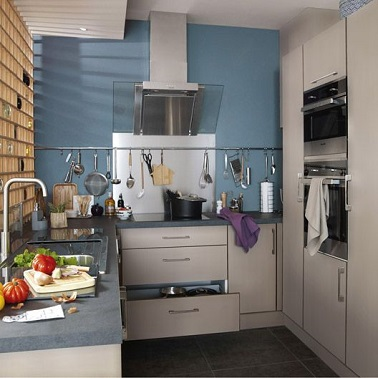 La cuisine bleu on l 39 adore deco cool for Cuisine leroy merlin 3d
