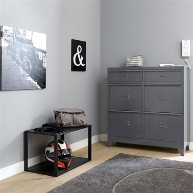 meuble rangement chaussures en m tal la redoute. Black Bedroom Furniture Sets. Home Design Ideas