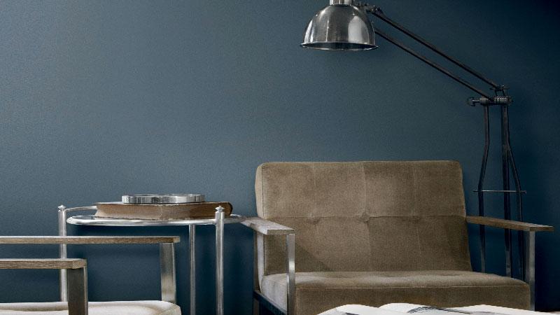 Peinture bleu 21 nuances pour les murs avec little greene - Peinture bleu gris tollens ...