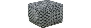 Idéal pour relooker votre salon, ce pouf tissé d'inspiration art-déco s'intègre facilement dans l'espace