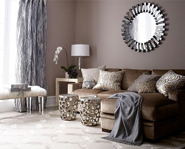 peinture salon couleur taupe et rideaux gris. Black Bedroom Furniture Sets. Home Design Ideas