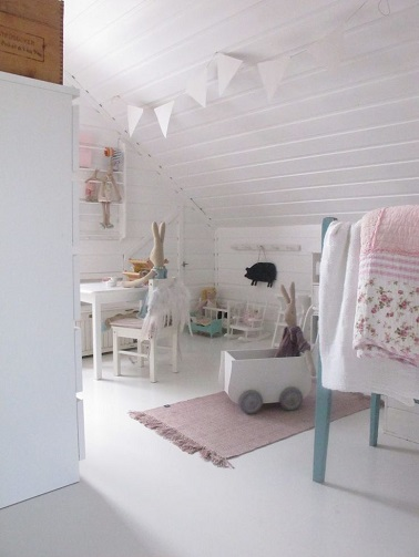 La d co enchante la chambre b b fille d co cool for Guirlande lumineuse chambre bebe fille