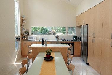 couleur lin peinture murale cuisine moderne. Black Bedroom Furniture Sets. Home Design Ideas