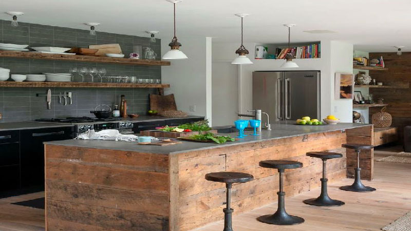 La cuisine industrielle un style d co qui inspire deco cool for Cuisine type loft