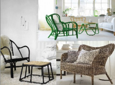 fauteuils table basse et canap en rotin capsule ikea. Black Bedroom Furniture Sets. Home Design Ideas