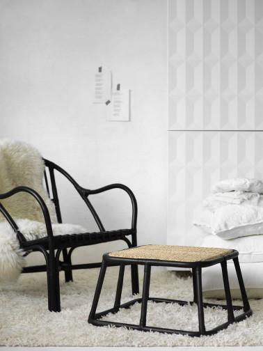 ikea napprig chambre fauteuil rotin noir. Black Bedroom Furniture Sets. Home Design Ideas