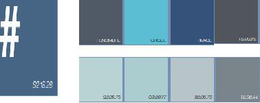 Palette de bleu peinture