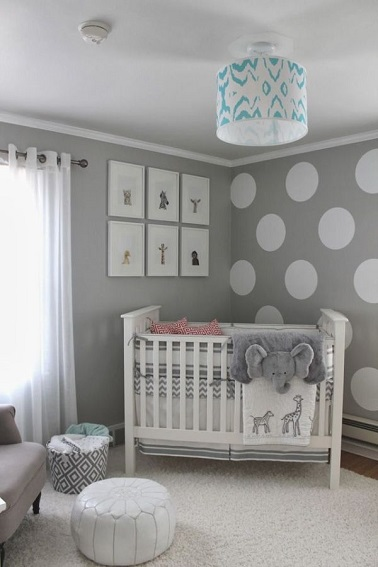 petite chambre bebe fille gris elephant pour un endroit detente et doux. Black Bedroom Furniture Sets. Home Design Ideas