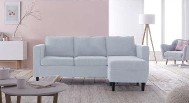 Salon cocon avec canape angle reversible bleu Achat design