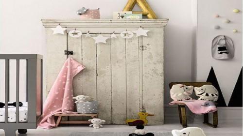 Tendance d co chambre b b fille en gris et rose - Decoration chambre bebe fille rose et gris ...