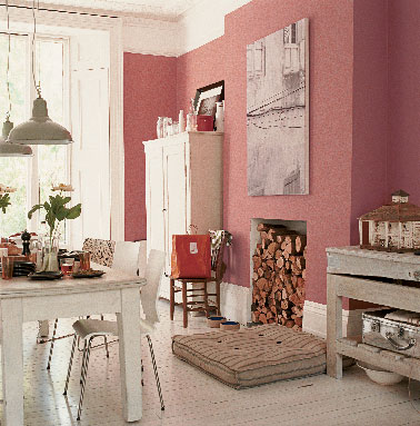 une cuisine rose la couleur tendance peinture astral. Black Bedroom Furniture Sets. Home Design Ideas