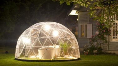 Le garden igloo l 39 abri de jardin la mode d co cool for Abri plante hiver