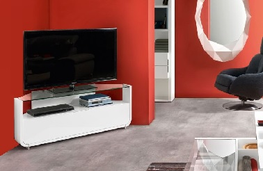Meubles tv gautier pour finaliser la d co du salon d co cool for Meuble tv d angle blanc laque