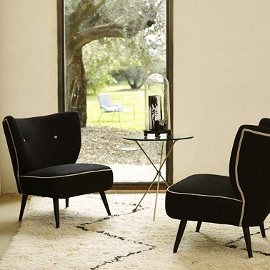 fauteuil franck ampm la redoute. Black Bedroom Furniture Sets. Home Design Ideas