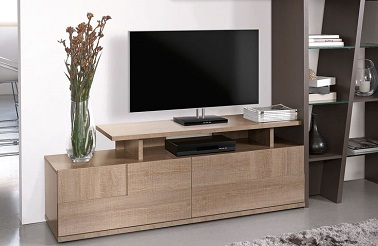 Meuble tv contemporain design collection brem by gautier - Meuble bas salon design ...