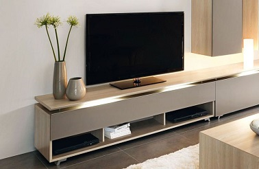 meuble tv bas taupe. Black Bedroom Furniture Sets. Home Design Ideas