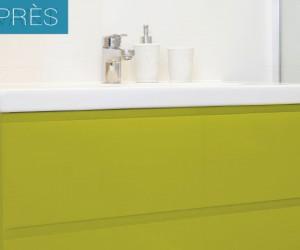 Rénover une salle de bain avec une seule peinture c'est possible ! Avec Syntilor, c'est une peinture carrelage qui s'applique aussi sur les meubles et plans vasques ainsi que sur les murs y compris ceux de la douche. Rénov'Salle de bain s'applique sans sous-couche et dispose d'un nuancier de 12 couleurs