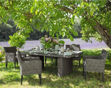 salon de jardin en osier maison du monde. Black Bedroom Furniture Sets. Home Design Ideas
