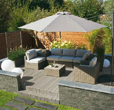 Stunning mini salon de jardin castorama ideas awesome for Decoration jardin gris