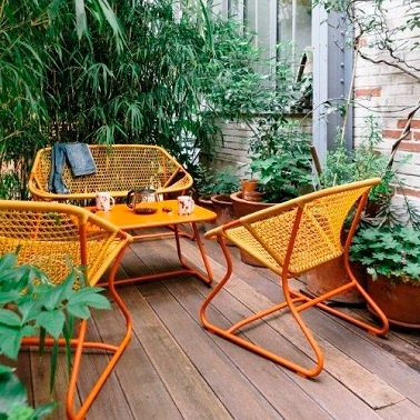 Am nager un balcon et petite terrasse avec fermob d co cool for Fermob table de jardin