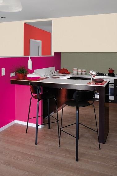 La peinture rose inspire la d co de la maison - Decoration de cuisine 2015 en rose ...