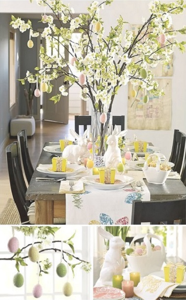 10 d co table de p ques faciles faire d co cool - Table de paques deco ...