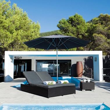 Bain de soleil noir style vacances Maisons du monde
