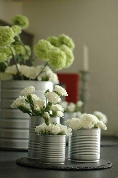 Faire ses pots de fleurs avec des boites de conserve de r cup - Recup boite de conserve ...