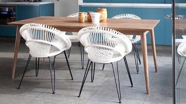 Chaise de salle a manger en rotin id es de design for Chaise salle a manger 2015