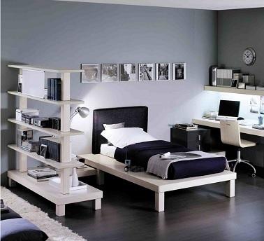 Chambre ado fille noir et blanc roche bobois - Chambre ado fille 16 ans moderne ...