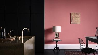 Cuisine ouverte sur salon peinture rose bali et noir for Peinture rose pour cuisine