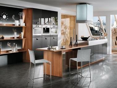 10 cuisines avec lot central tendances deco cool. Black Bedroom Furniture Sets. Home Design Ideas